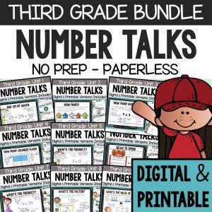 Third Grade Number Talks Bundle