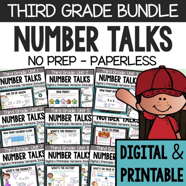 Third Grade Number Talks Bundle