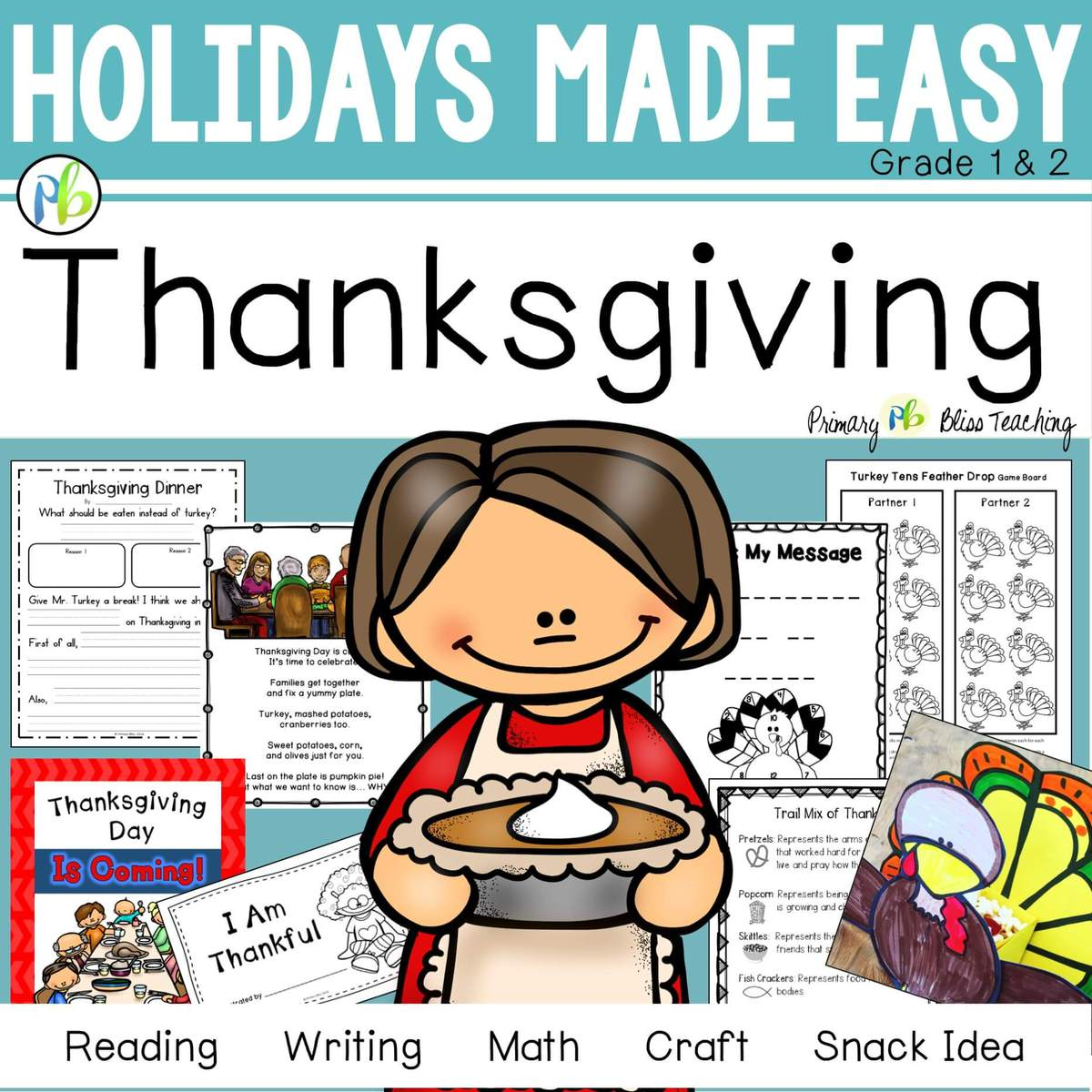 Thanksgiving Holidays Made Easy Grades 1 2 Reading Writing