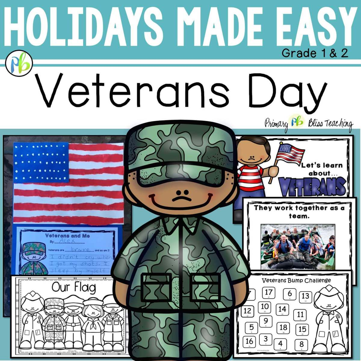 Veterans Day Mini Unit Reading Writing Art Activities Holidays Made Easy