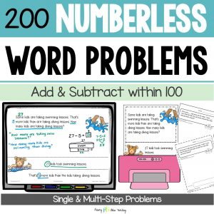Numberless Word Problems to 100