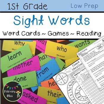 Highly Effective First Grade Sight Word Program (Yearlong Program)