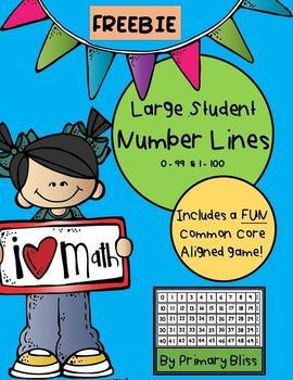 Large Student Number Lines With Game