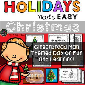 Christmas With The Gingerbread Man: Holidays Made Easy (Grades 1 & 2)