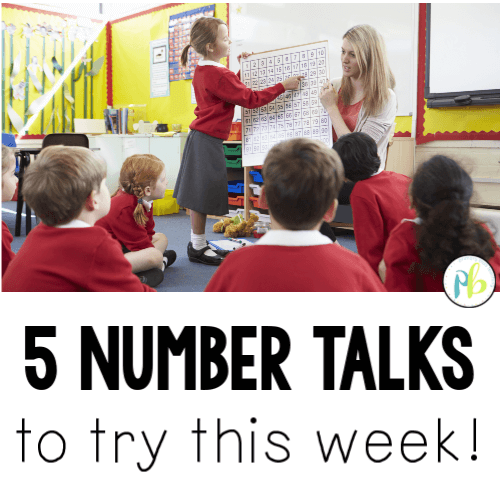 5 Number Talks to Try This Week