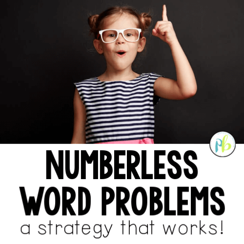 Numberless Word Problems first grade