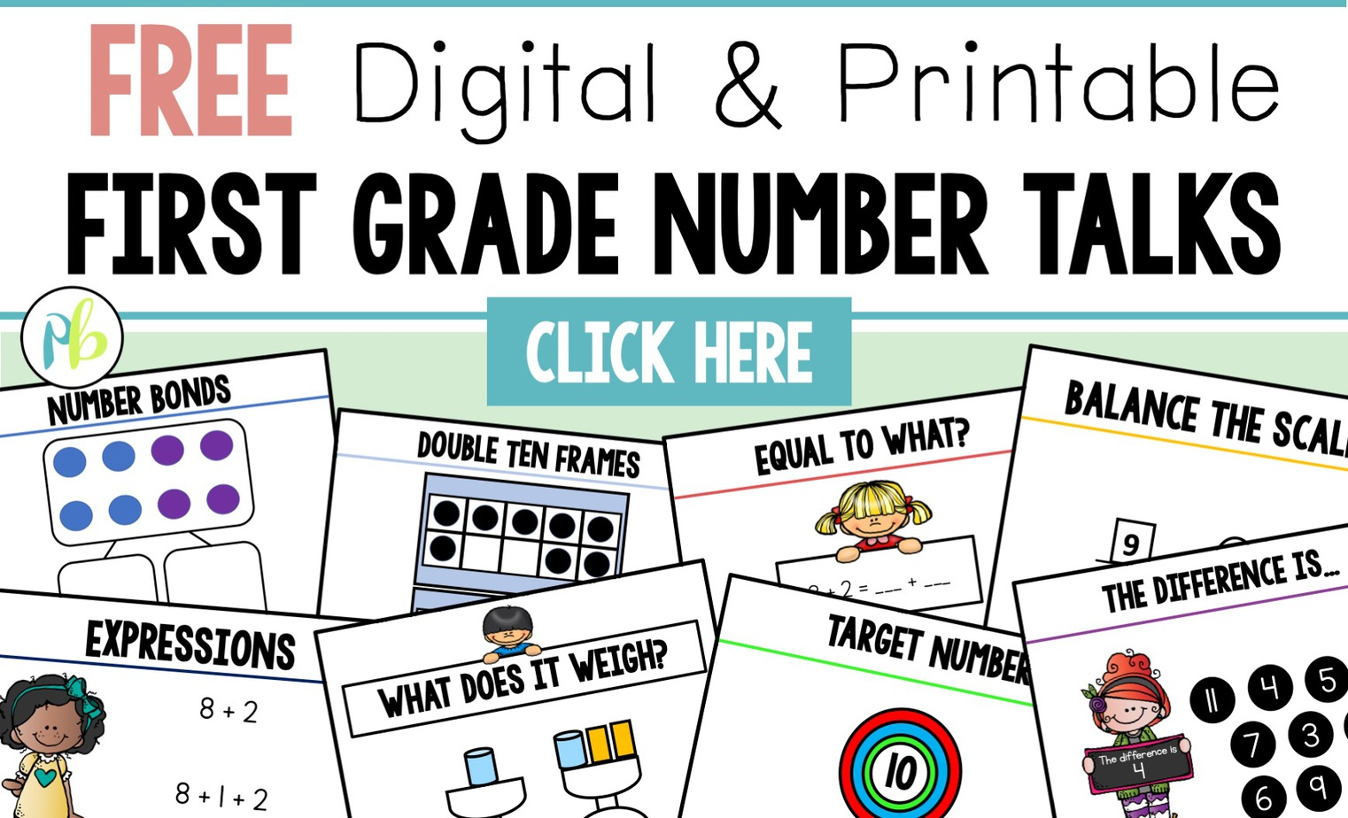 free first grade number talks