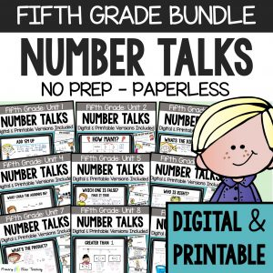 Fifth Grade Number Talks Bundle