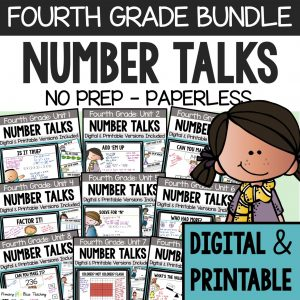 Fourth Grade Number Talks Bundle