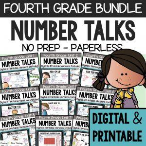 Fourth Grade Number Talks Bundle