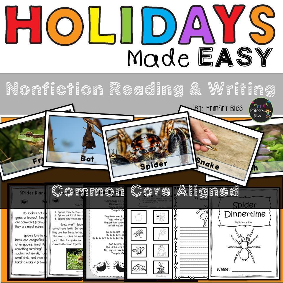 Halloween: Holidays Made Easy (Grades 1 & 2)