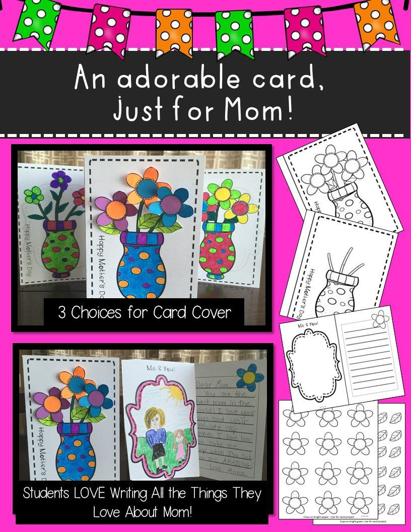 Mothers Day Gift 3D Bouquet Craft and Card