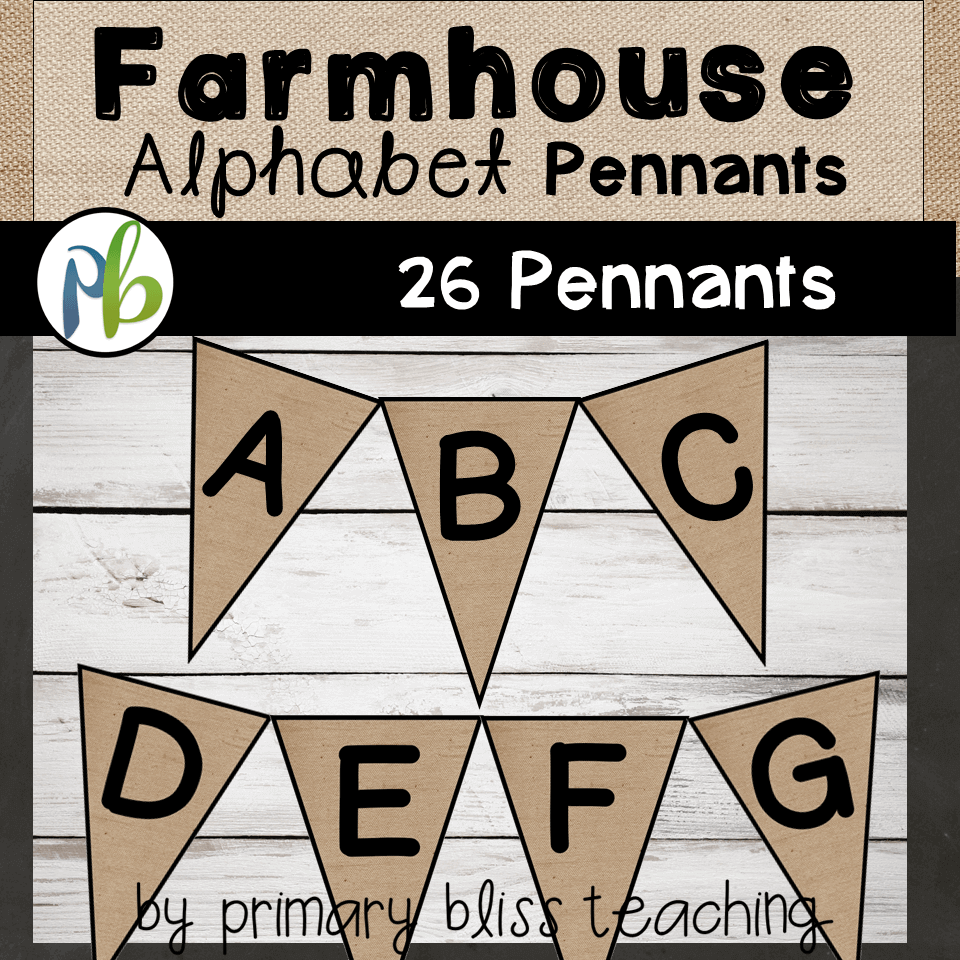 Farmhouse Decor Alphabet Pennants