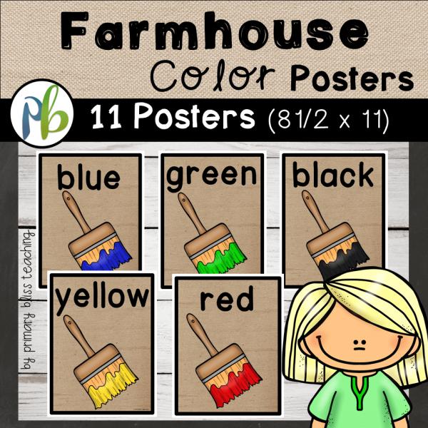 Farmhouse Decor Color Posters