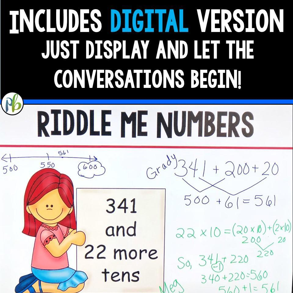 Third Grade Number Talks - (Digital and Printable) Yearlong Program