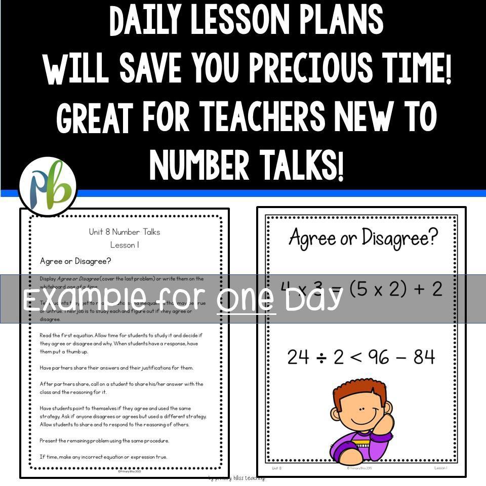 Third Grade Number Talks - (Digital and Printable) Yearlong Program