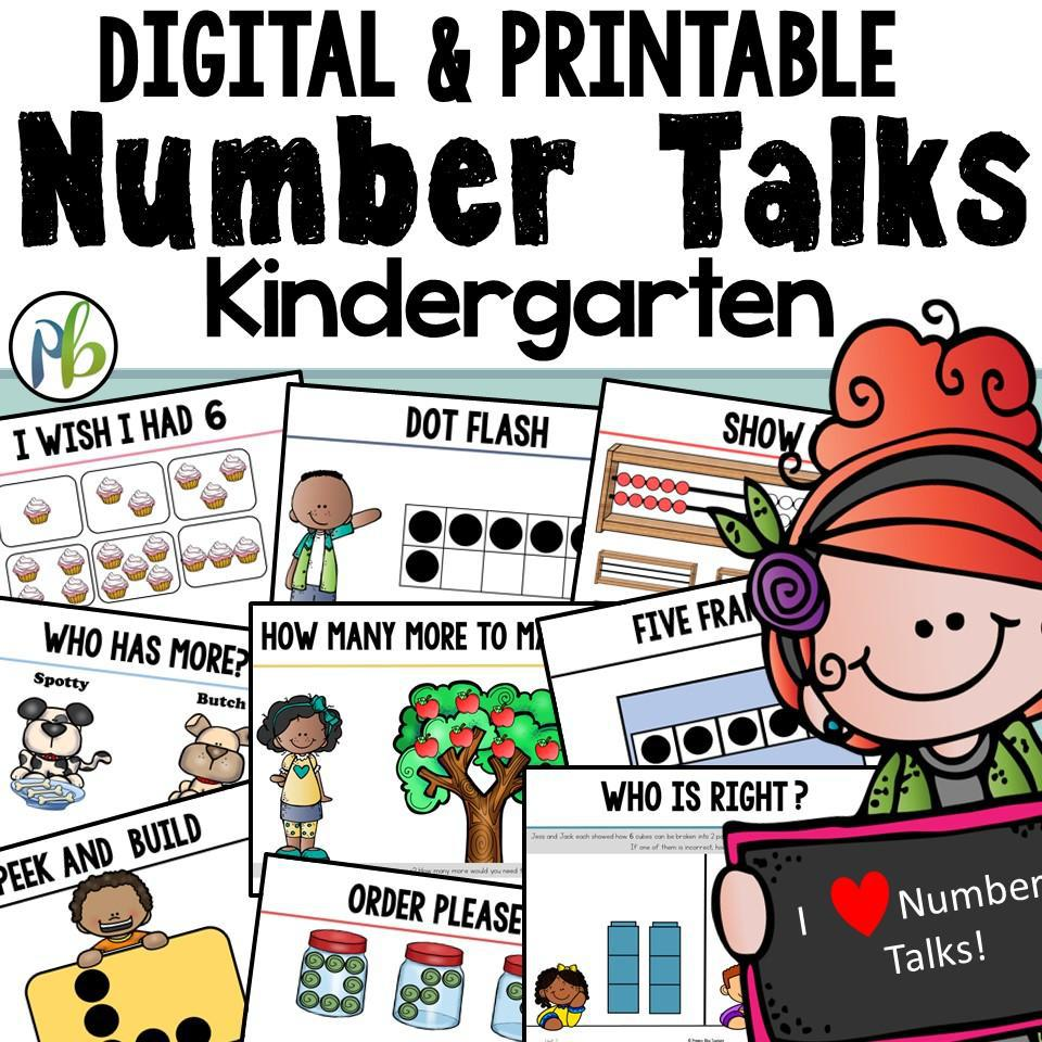 Kindergarten Number Talks - (DIGITAL and printable) - Yearlong Program