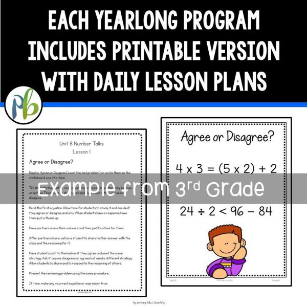 Number Talks BUNDLE (K-5 Yearlong Programs) DIGITAL & Printable