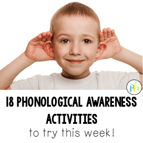 phonological awareness activities first grade