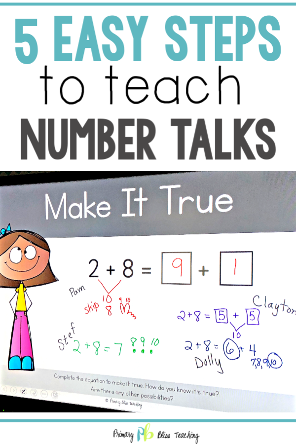 5 Easy Steps to Teach Number Talks
