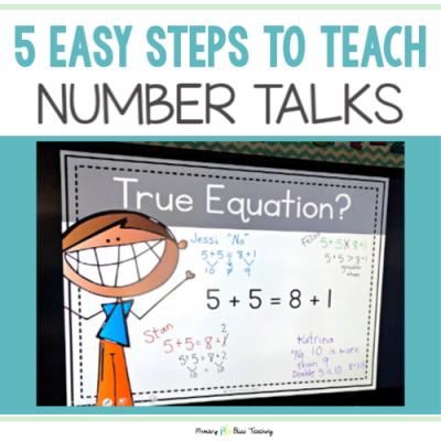 5 Easy Steps to Teach Number Talks in First Grade