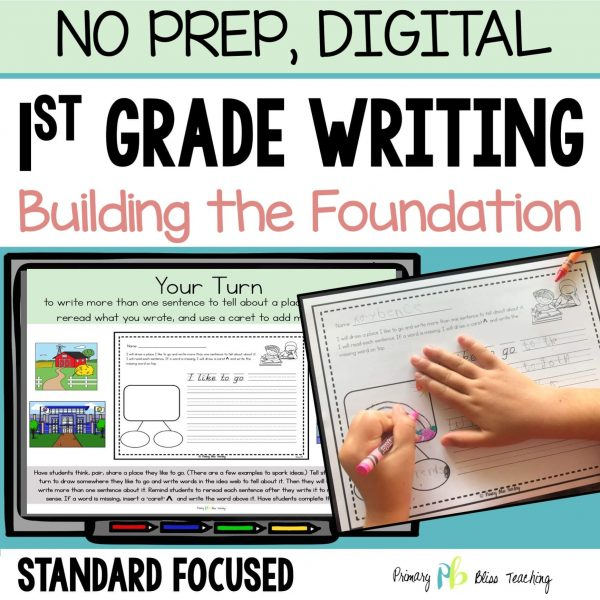 First Grade Writing Curriculum for the Beginning of the year