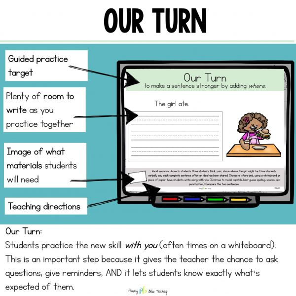 """First Grade Writing Slide """"Our Turn"""""""