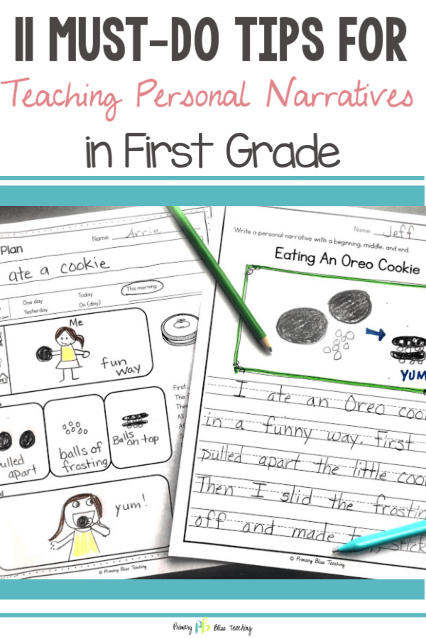 Personal Narrative Examples for First Grade