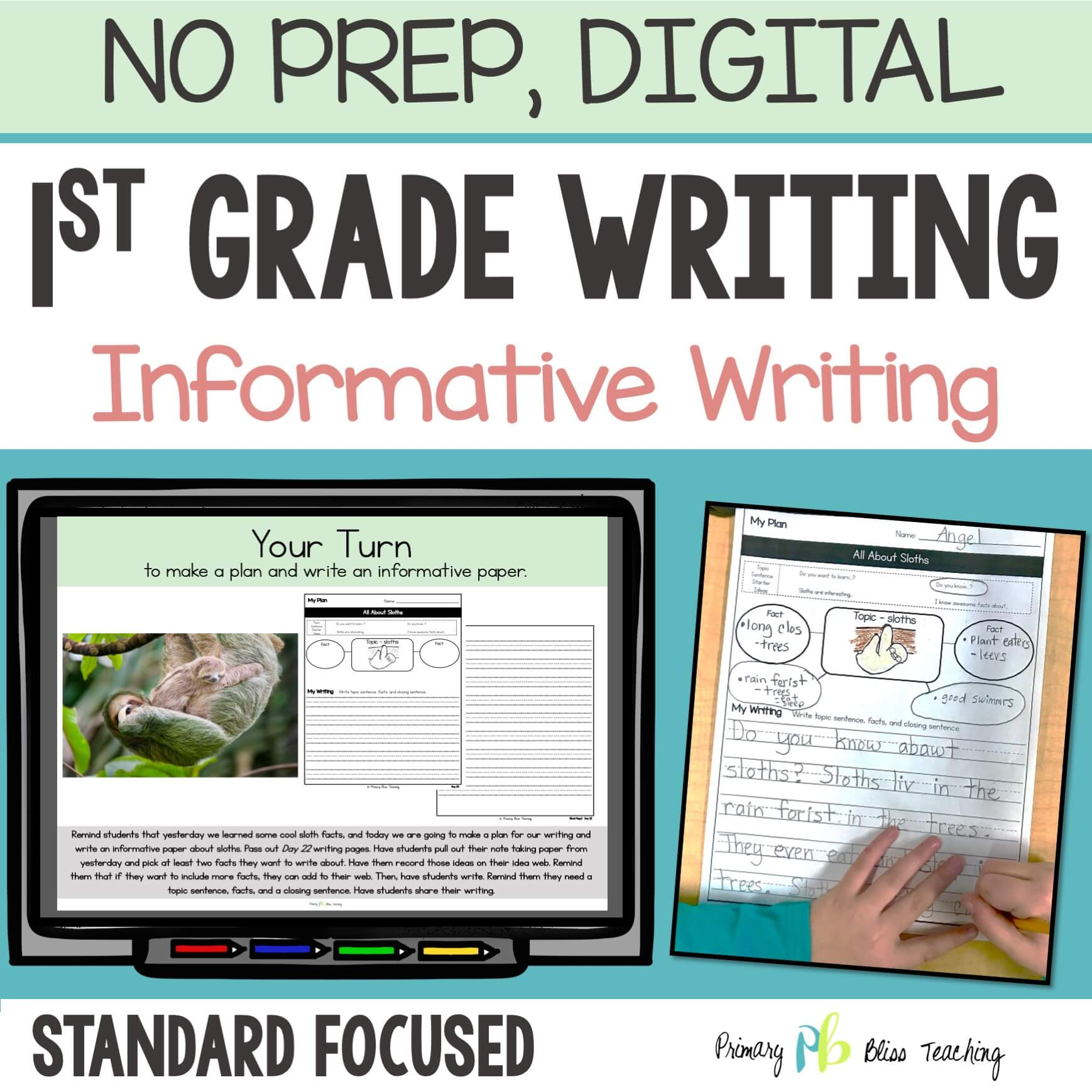 Informative Writing Unit for First Grade