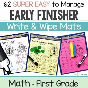 First Grade Early Finishers Math