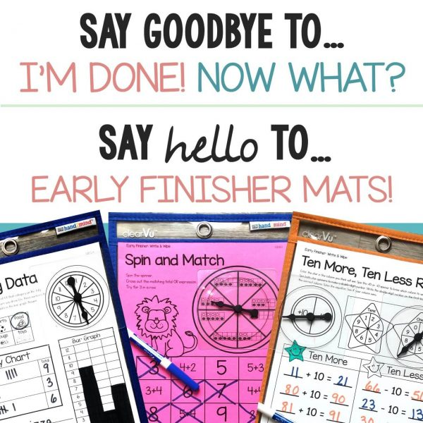 Math Early Finisher Boards