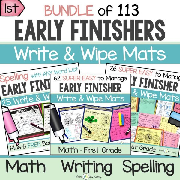First Grade Early Finisher Activities