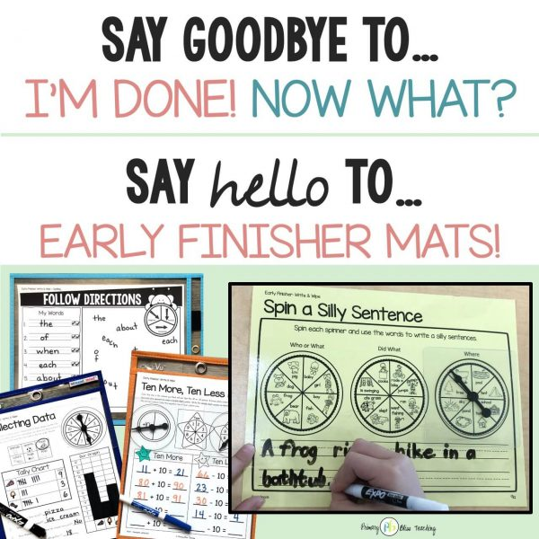 Early Finisher Activities First Grade